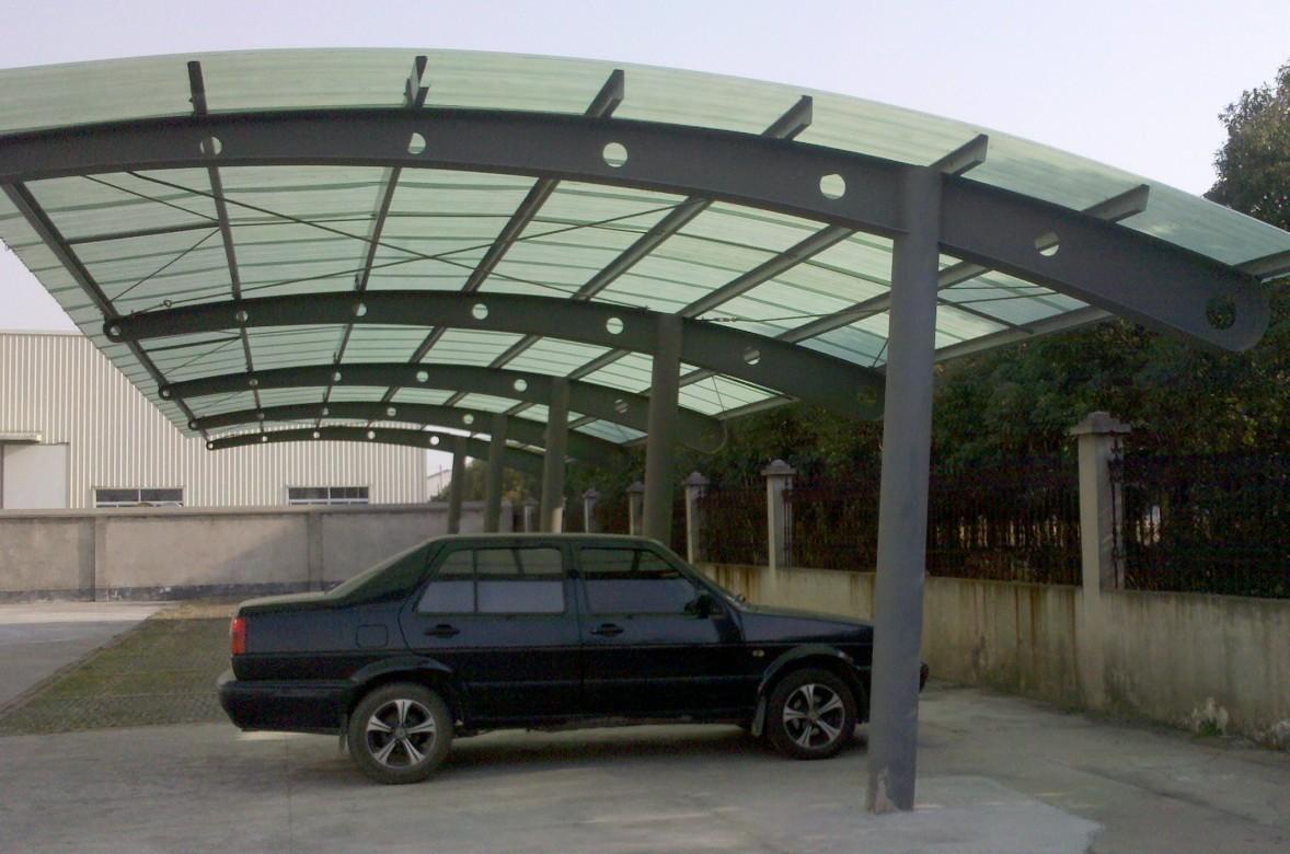 彩钢板房_钢结构车棚(阳光板式)_上海彬煌钢结构有限公司