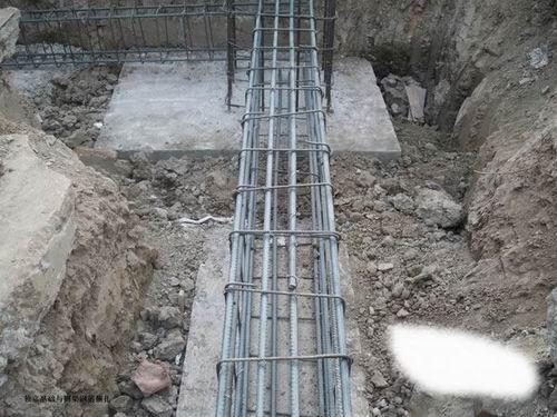 上海松江某钢结构厂房基础施工详图
