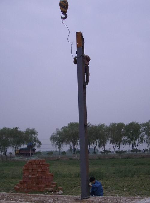 上海奉贤某企业钢结构厂房基础与土建砖墙施工图