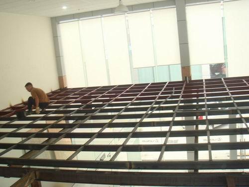 上海闵行某办公楼木板钢结构隔层施工图