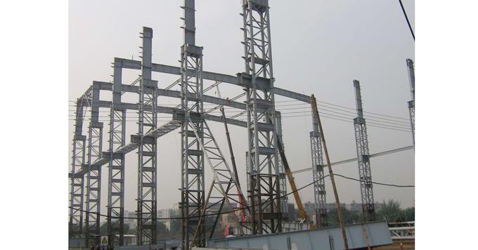 整套钢结构车间建设施工过程图